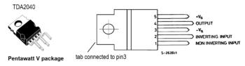 Цоколевка выводов микросхемы ТДА