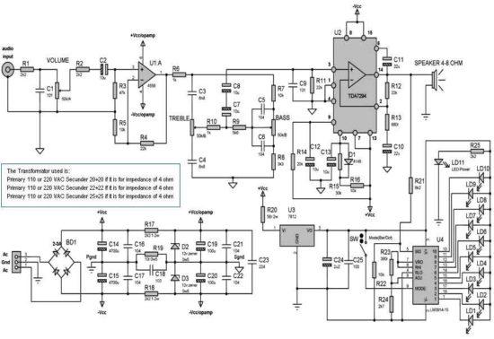 Усилитель TDA7294-2