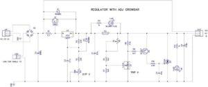 Схема регулятора с защитой от перенапряжения
